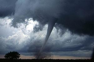 Dangerous tornado